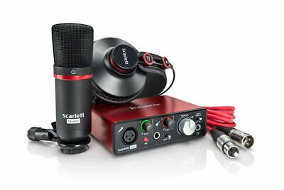 Focusrite Scarlett Solo Studio (2nd Gen) - 2 In / 2 Out USB 2.0 Audio Interface