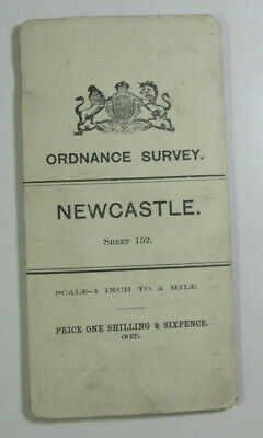 1899 Old OS Ordnance Survey Ireland One-Inch Second Edition Map 152 Newcastle