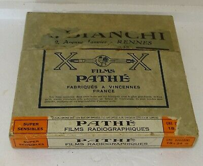 1938 Rare  boite d'emballage Films Pathé radiographiques RAYON X