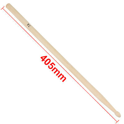 1Pair 7A Practical Maple Wood Drum Sticks Drumsticks Music Band Accessories ZN