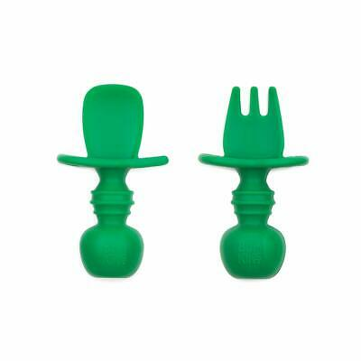 Bumkins Jade Silicone Chewtensils, Baby Fork and Spoon Set - 306543