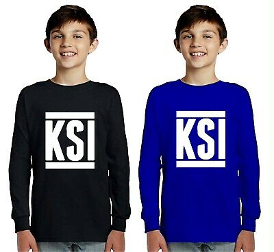 Childrens LONG SLEEVE kids T SHIRT KSI Sidemen YouTube Army FIFA Gaming keep up