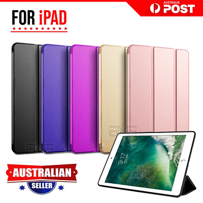 Apple iPad 5th 2017 6th Gen 2018 Leather Shockproof Flip Folio Smart Case Cover