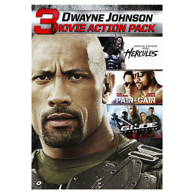 NEW Dwayne Johnson Action Collection 3 Movie Action Pack (DVD, 2017) FAST SHIP!!