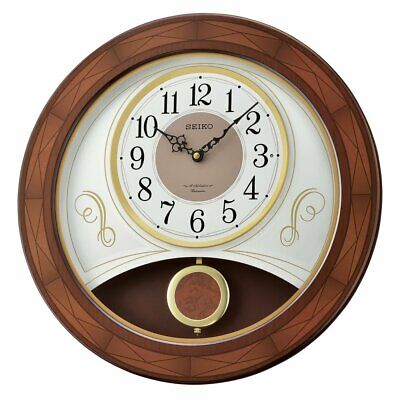 Seiko Melodies In Motion Wall Clock with 18 Hi Fi Melodies - QXM367BLH