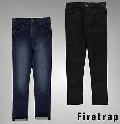 Boys Branded Firetrap Stylish Classic Belt Loops Pockets Skinny Jeans