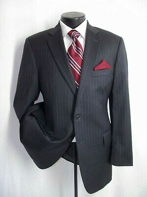 """Brooks Brothers Madison Gray Striped 2 Buttons Wool Suit 42 R~Pants 38""""W x 32""""L"""