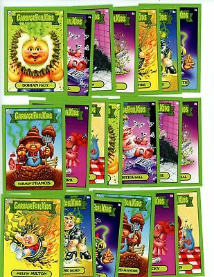 2019 GPK Scratch & Stink Complete A & B GREEN Set 20 Cards Garbage Pail Kids