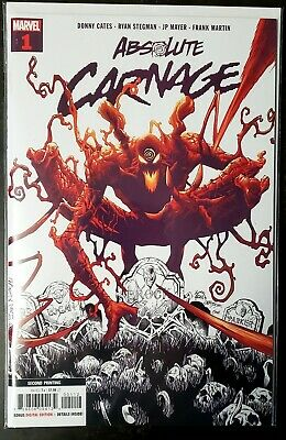 Absolute Carnage #1 2nd Printing low print run !SOLD OUT¡ NM+ NEVER READ!!