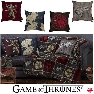 GAME OF THRONES Canvas CUSHIONS Westeros House Stark Lannister Targaryen Designs