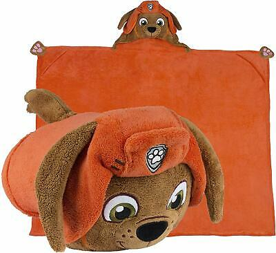 Comfy Critters Paw Patrol Blanket – Zuma – Kids Huggable Pillow and Blanket