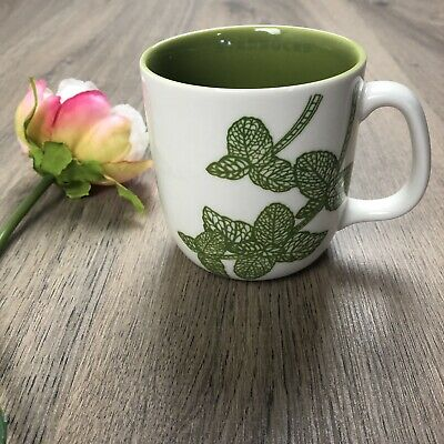 Starbucks Coffee Mug 2011 Mint Leaf EUC 10 Fl Oz