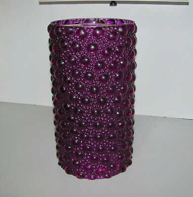 Retro Purple Bubble Pattern 70s Plastic Light Shade Suits Any Standard Fitting