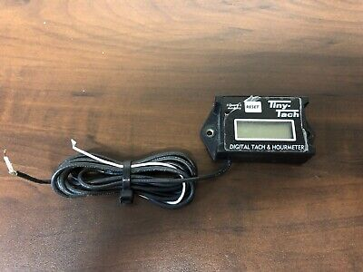 2) PACK TINY Tach 8' Cable Digital Hour Meter Tachometer