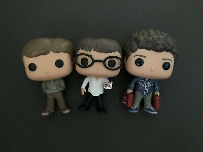 Funko Pop! Superbad Lot (3) McLovin, Seth And Evan Loose Vaulted Free Shipping