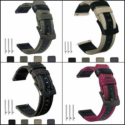 Bands For Gear S3 Classic/Frontier 22mm Nylon & Leather Sports Strap Wrist Band