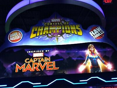 Dave and Buster's Marvel Contest of Champions Arcade Character Cards