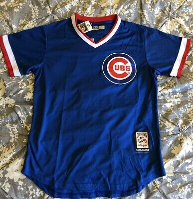 info for 85285 15228 CHICAGO CUBS JAVIER Baez #9 1984 Throwback Jersey Road Blue pullover Men's