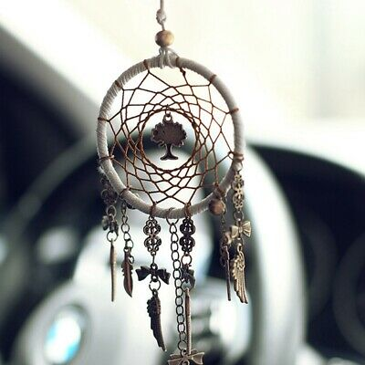 Car Interior Charms Pendant Retro Dreamcatcher Home Ornament Hanging Decor Gift