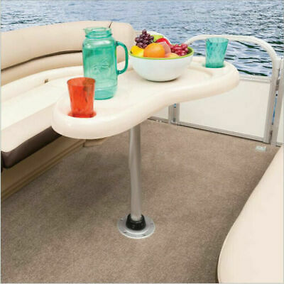 "27"" 70cm Aluminum Table Pedestal Stand Used Yachts Recreational Vehicl Adjustabl"