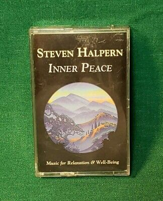 STEVEN HALPERN  Inner Peace CS Cassette Tape new age ambient synth crystals