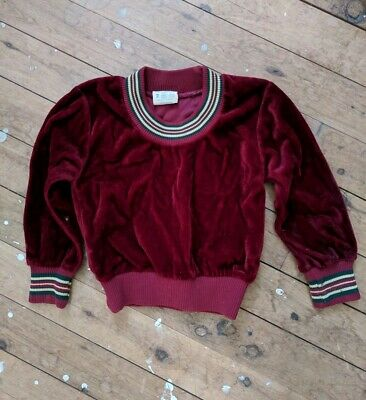 Beautiful vintage velvet  jumper - fits a baby size 2 (possibly size 1)