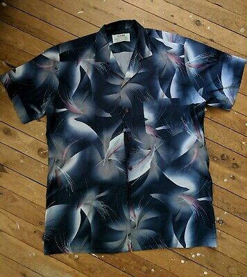 Mens SQUIRE vintage blouse 1990s, size Large - made in Australia
