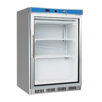 Bar Fridge 150L Glass Door Undercounter Cooler Under Bench Refrigerator NEW