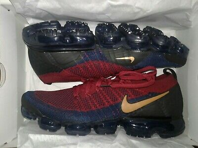 Nike Air Vapormax Flyknit 2 Team Red/Wheat-Obsidian-Black 942842-604 Size 10.5