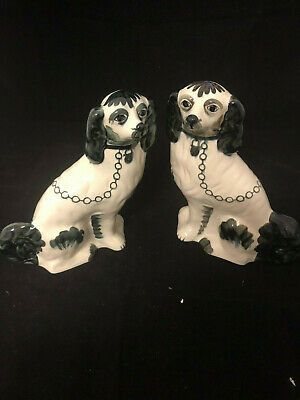UNRESERVED - A pair of Staffordshire Dogs 35cm high $1 START
