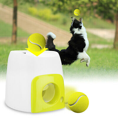 Automatic Interactive Throw Ball Dog Pet Training Fetch Tennis Launcher Throw Up