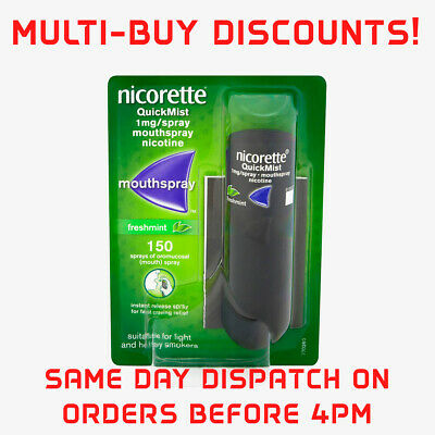 MULTI-BUY Deals!! Nicorette Quickmist Freshmint  Mouthspray - 1 x 150 sprays