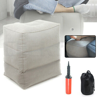 Inflatable Foot Rest Travel Air Pillow Cushion Office Home Leg Footrest Relax