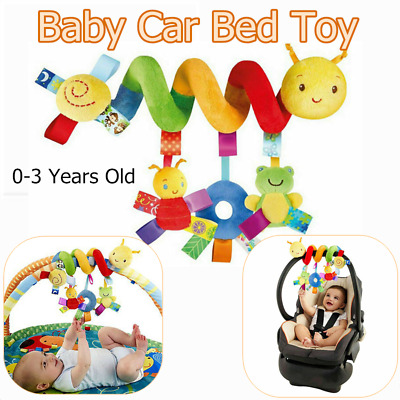 Unisex Comfort Spiral Pushchair Toy & Bell Colorful Label For 0-3 Years Old Baby