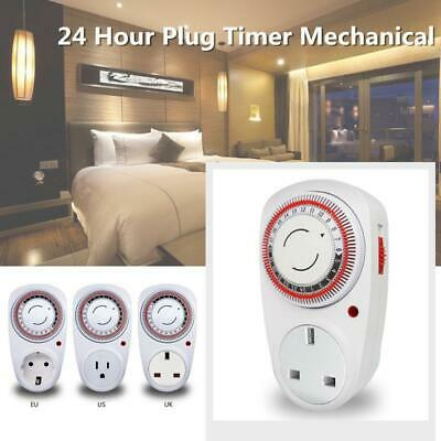 24 Hours Mechanical Kitchen Cooking Timer Count Down Clock Socket Switch Outlet