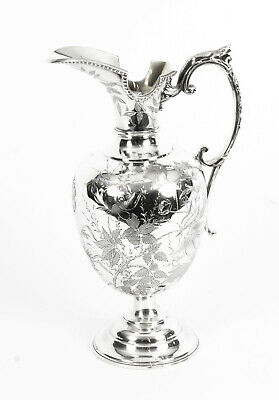 Antique Victorian Silver Plate Claret Jug by Atkin Brothers C 1880 19th Century