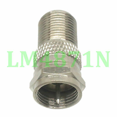 1pce Adapter F TV plug male to F female jack RF connector straight M/F