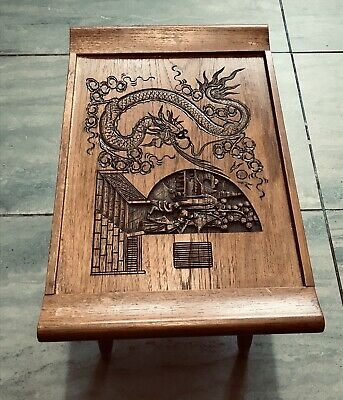 Oriental / Chinese Hand Crafted Wooden Tea Table
