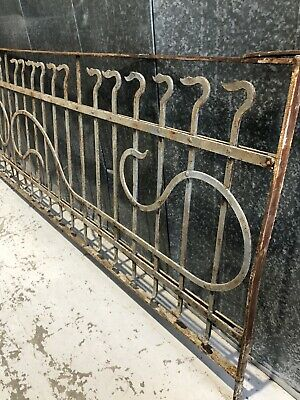 Antique Vintage Wrought Iron Architectural Railing Rails Balcony Fence Gate 3.5M