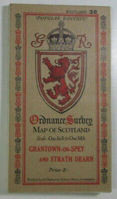 1929 OS Ordnance Survey Popular Edition One-Inch Map 38 Grantown-on-Spey S Dearn