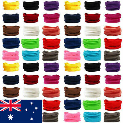 Solid Colour Fishing Face Shield Mask Cover Neck Gaiter Tube Scarf Headwear Hats