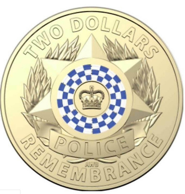 Royal Australian Mint 2019 Police Remembrance Two Dollars Coin UNC