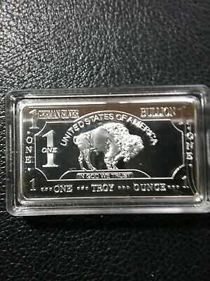 USA German silver bullion one troy ounce ingot