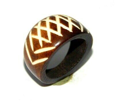 100% Natural Bone Carving Designer Handmade Fashion Jewelry Ring Size 9 R796