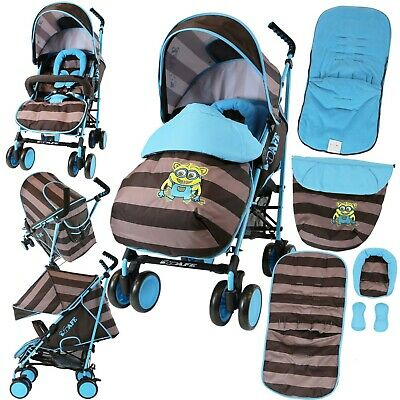 Isafe Boys Baby Toddler Stroller Buggy Pushchair Includes Raincover & Footmuff