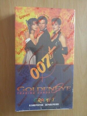 James Bond 007 GoldenEye Trading Cards 36 Pack Box - Graffiti (New/Sealed)