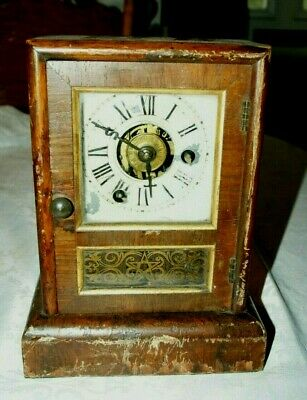 Antique SETH THOMAS (USA) Kitchen/Parlour Clock, Spares/Repair