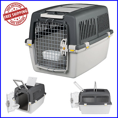 PET DOG Travel Transport Carry Cage Crate Metal Soft Plastic - Various Sizes