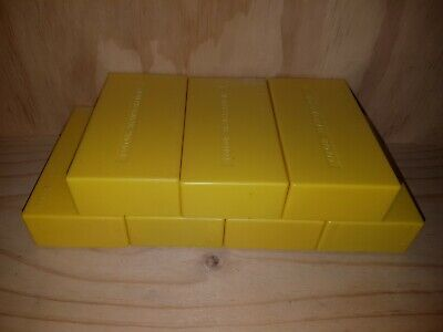 LOT OF 7 VINTAGE PHOTOGRAPHIC 35mm SLIDE BOXES IN EXCELLENT CONDITION.