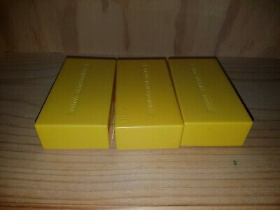 LOT OF 3 VINTAGE PHOTOGRAPHIC 35mm SLIDE BOXES IN EXCELLENT CONDITION.